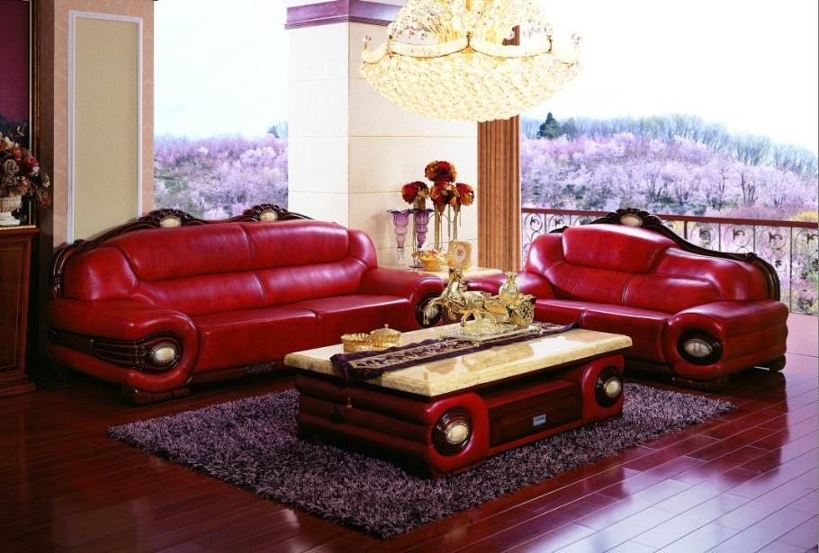 红桃木沙发图片