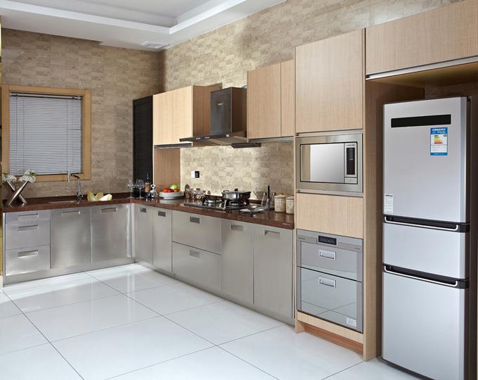 韩丽橱柜品牌金属质感厨房