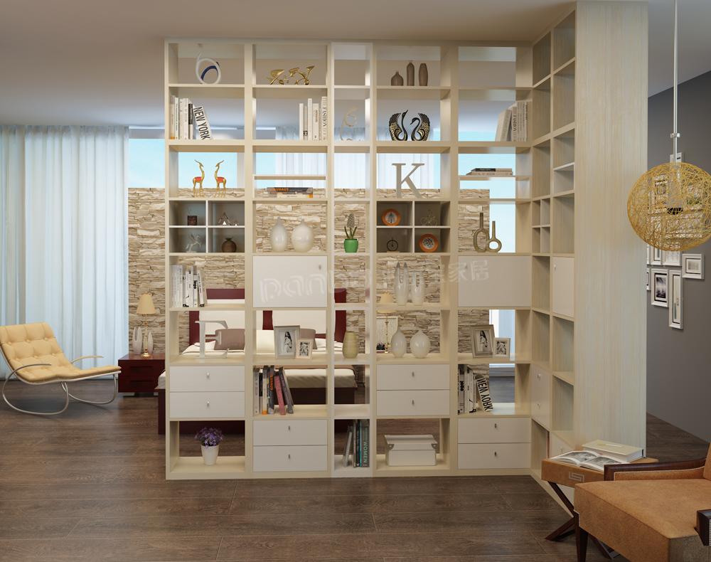 时尚简洁的盼宝宝家居卧室隔断柜为您藏风聚气