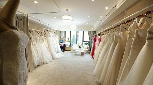婚纱礼服店装修效果图-婚纱礼服店加盟 左岸丽人带你轻松致富
