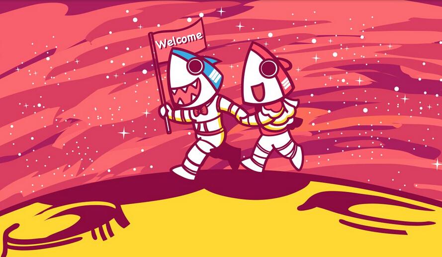 """原创生动可爱""""鲨鱼公园小鲨""""同学们卡通形象"""