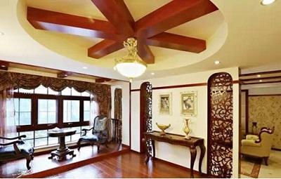 客厅木地板装修效果图3