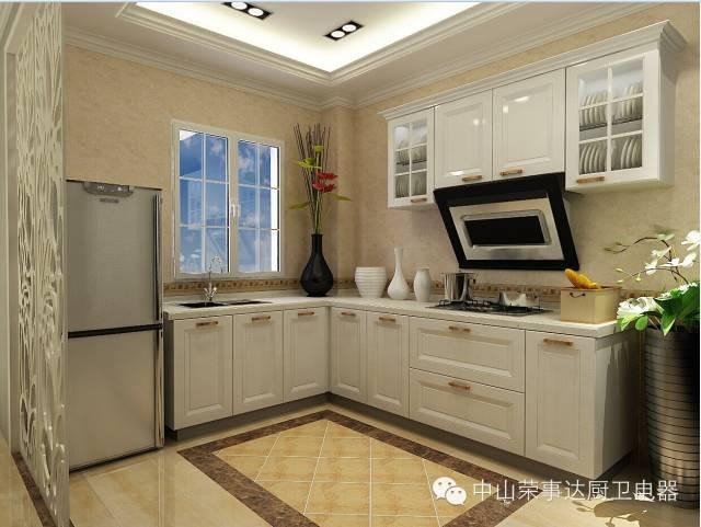 欧式厨房白柜效果图