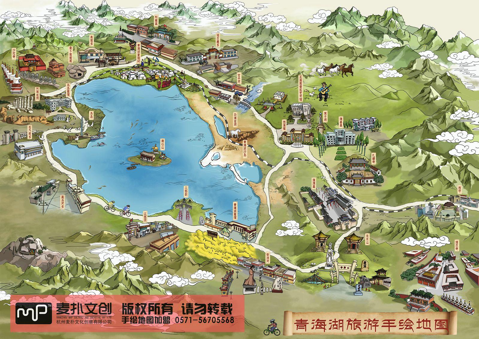 麦扑手绘地图产品图片