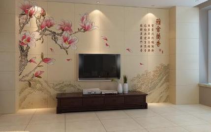 背景墙是一种以瓷砖为背景来装饰家庭客厅电视
