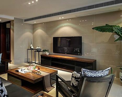 瓷砖背景墙是一种以瓷砖为背景来装饰家庭客厅电视