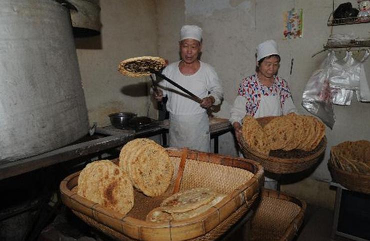 淄川肉烧饼产品图片 淄川肉烧饼店铺装修图片