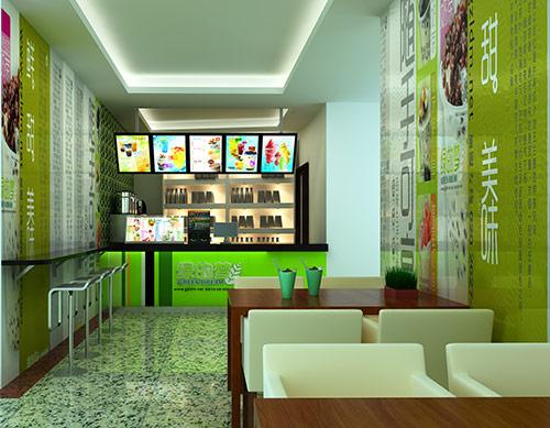 小型奶茶店吧台装修风格