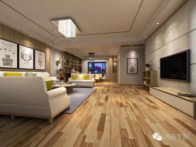 大面积带有线条造型的白色墙面装饰板+欧式造型