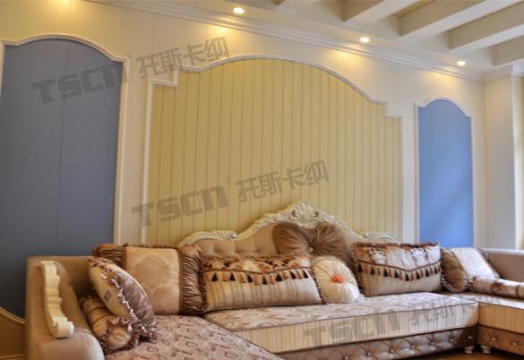 托斯卡纳集成墙面隆回店内大气的欧式风格,给您一个高端的客厅呈现,俗话说:客厅是家装的名片不管您是想做奢华时尚的美式风格,还是高端大气的欧式风格, 亦或是经典高雅的中式风格,托斯卡纳集成墙顶倾力为您服务。