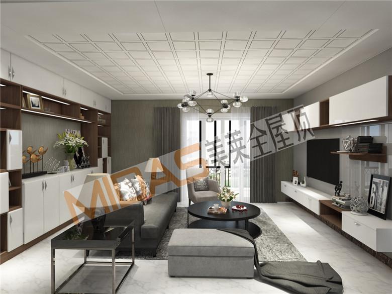 美莱欧式风格客厅吊顶:轻奢浪漫