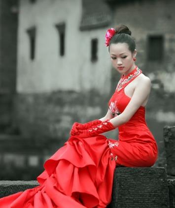 萍香韵儿旗袍