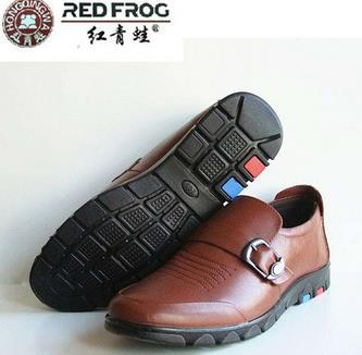 红青蛙皮鞋