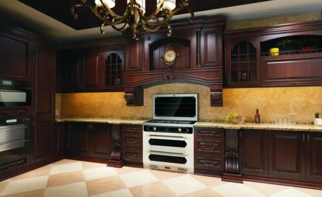 实木,现代,烤漆,模压等不同风格的橱柜;   让集成灶不止不会影响厨房