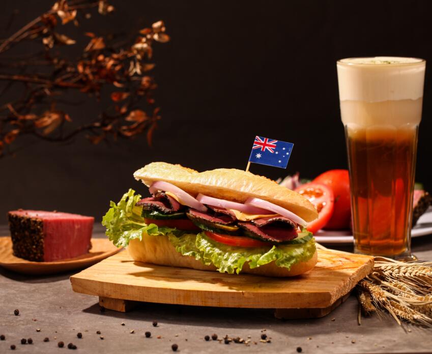 黑椒牛肉三明治