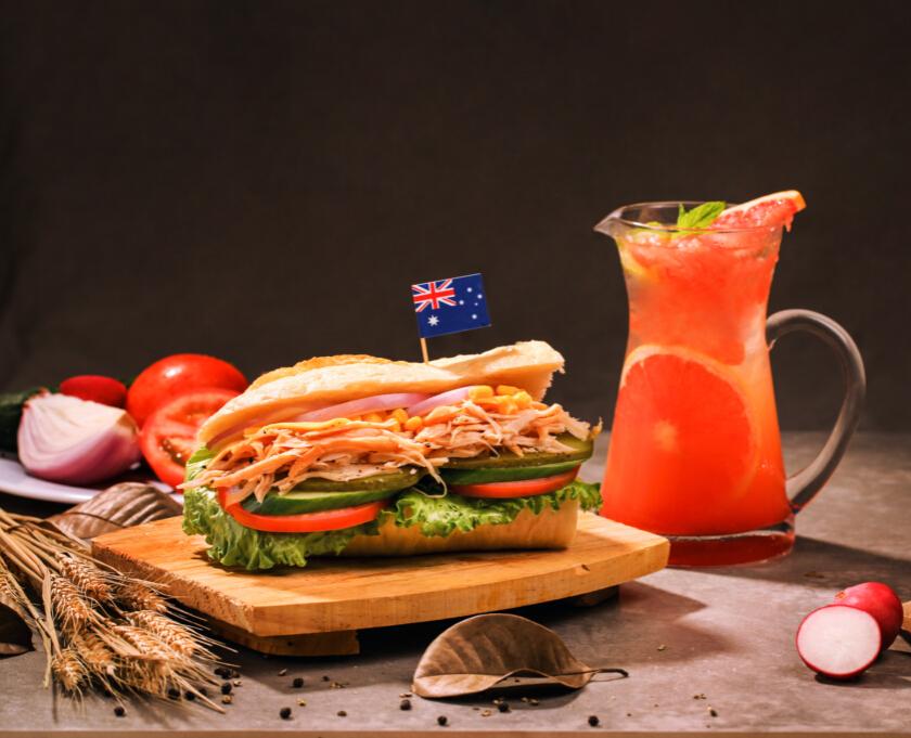 香辣鸡肉三明治