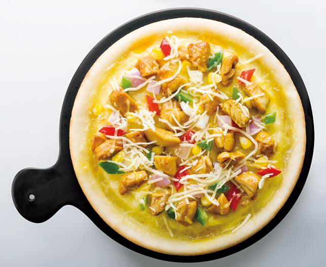 爱8寸曼彻斯特咖喱鸡肉披萨