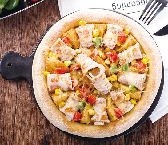 爱8寸神户清香烤肉披萨
