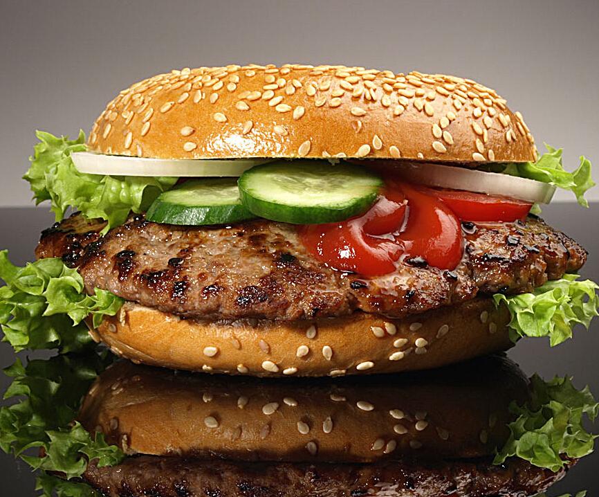 家美滋牛肉汉堡