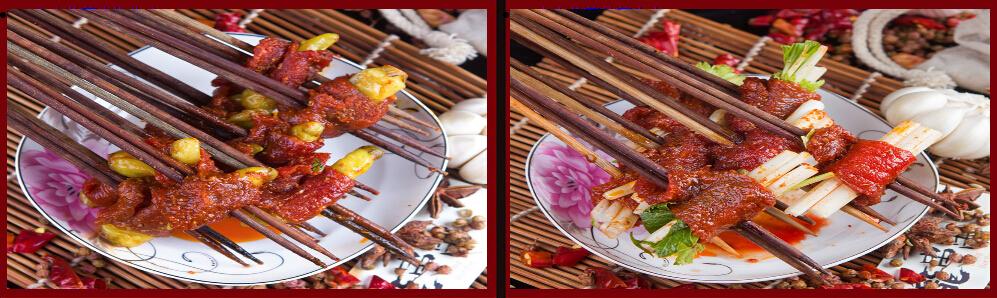 奥龙串串食材展示