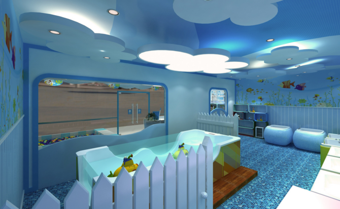 婴儿游泳馆内景