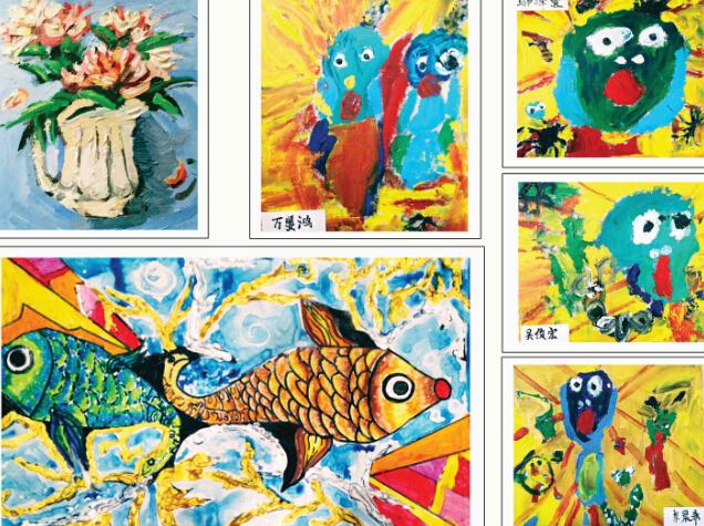 苗画儿美术教育油画作品
