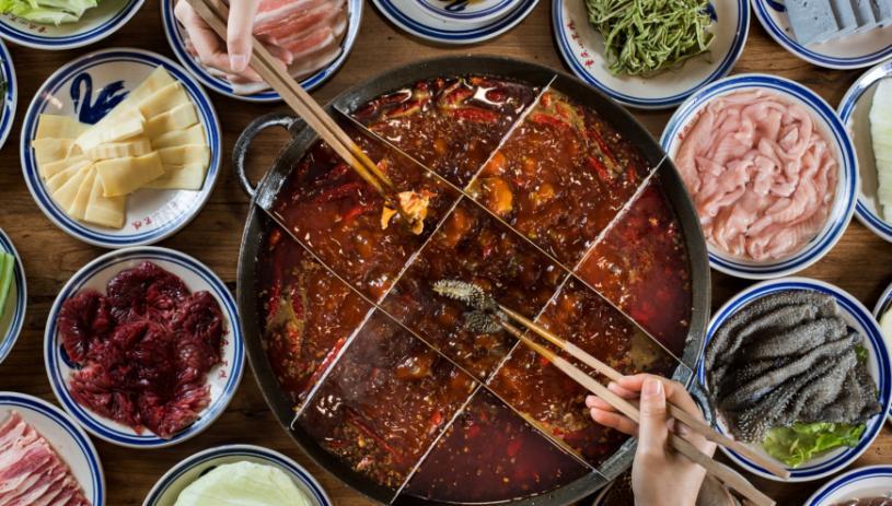 重庆小天鹅火锅美味食材