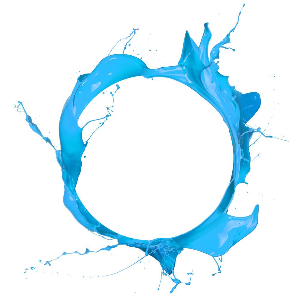 经典蓝油漆
