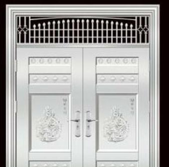 304银白色不锈钢门