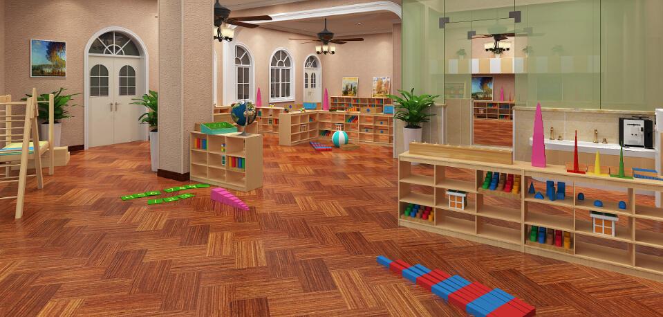 自然树幼儿园玩具室