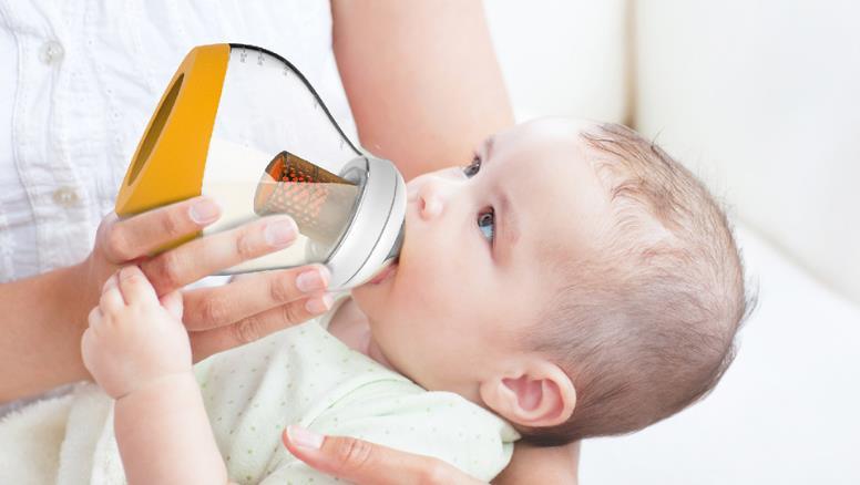 MM婴儿用品黄颜色奶瓶