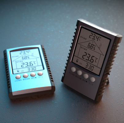 经典电子时钟室内外温湿度计