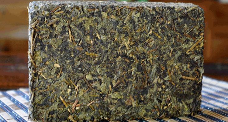 安化黑茶长方形茶饼