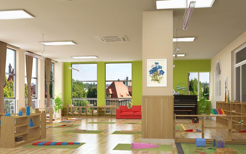 自然树幼儿园活动室