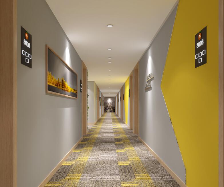 橙客酒店走廊