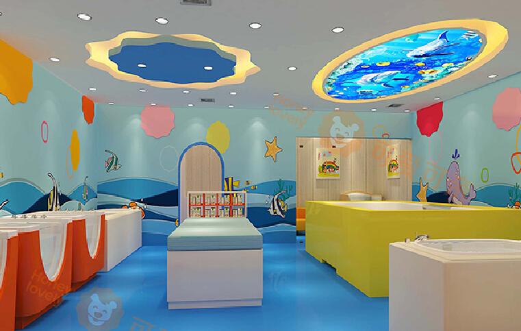 可爱可亲母婴生活馆孩子洗浴室
