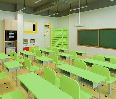 国广教育青少儿学习中心桌椅