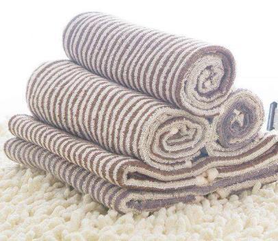 竹纤维条纹毛巾