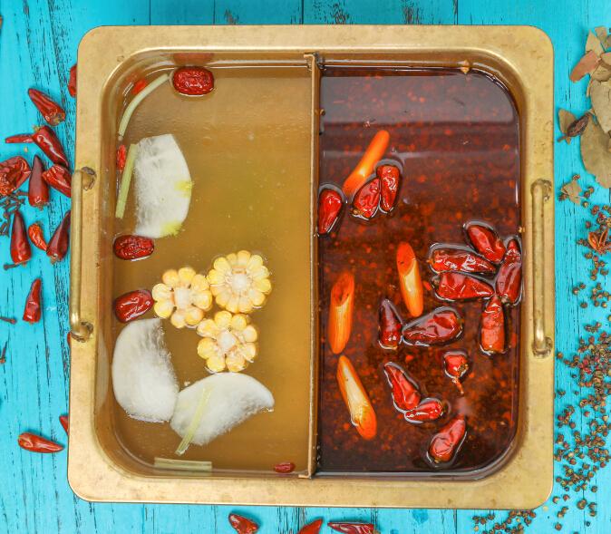 食叁味鸳鸯牛汤锅