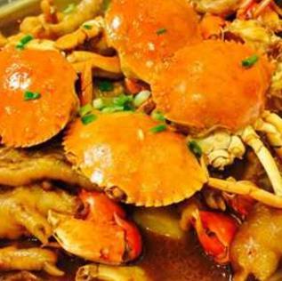 盖式蟹煲快餐黄