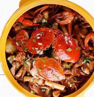 盖式蟹煲快餐公蟹