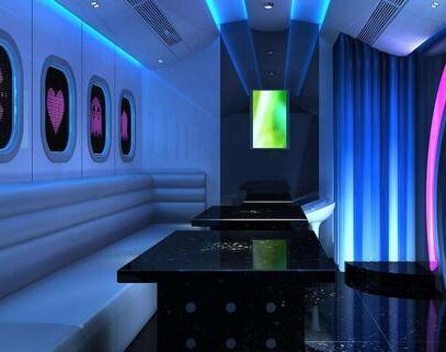 Ibiza风尚主题KTV蓝色