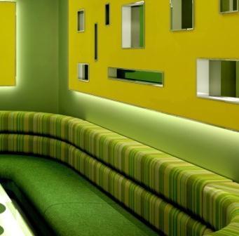 韦韦KTV绿沙发
