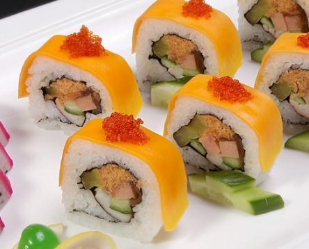 嘿店寿司小吃黄色