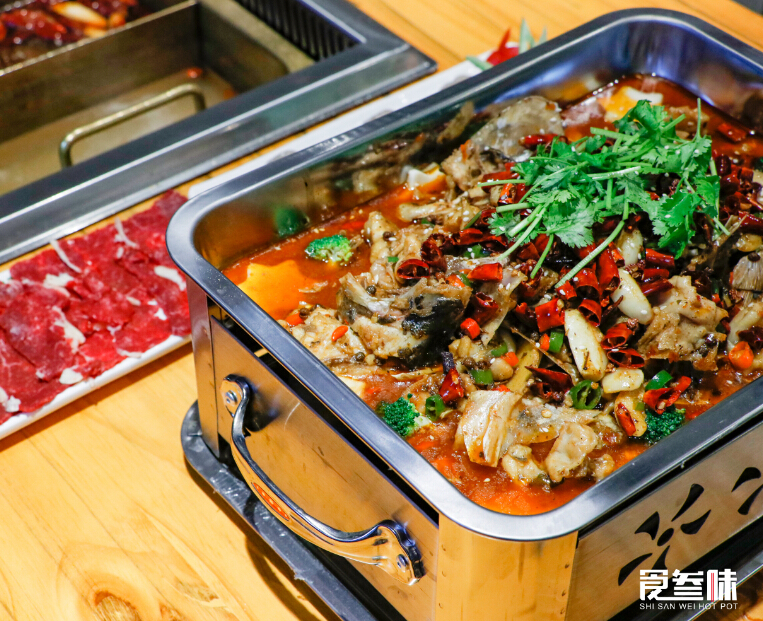 食叁味干锅牛蛙