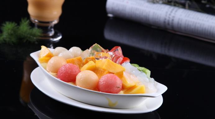 蜜之味港式甜品冰淇淋水果