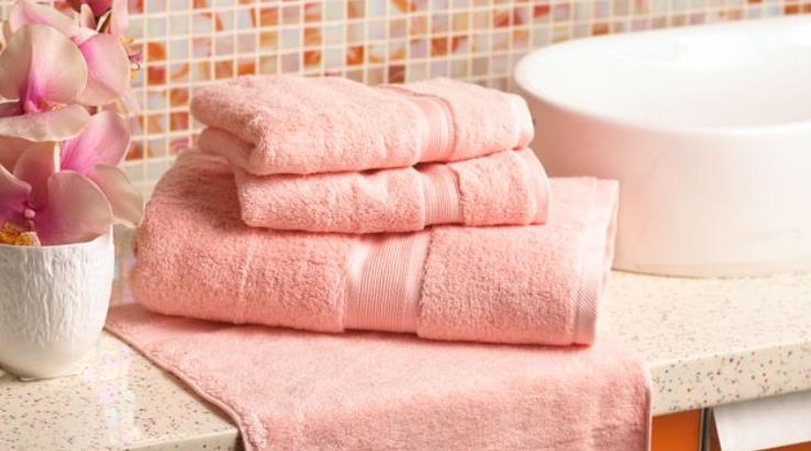 毛浴巾粉色毛巾