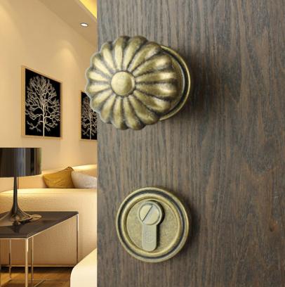 全铜黑色球形室内房门锁