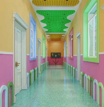幼儿园教室走廊