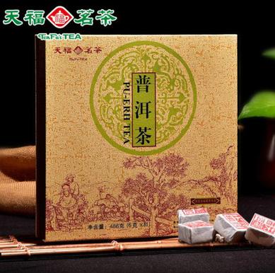 天福茗茶棋盘式普洱茶